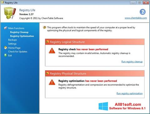 截图 Registry Life Windows 8.1