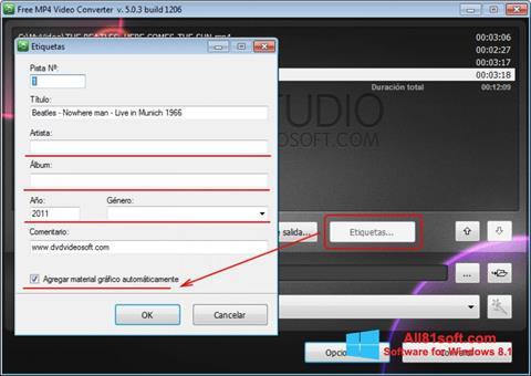 截图 Free MP4 Video Converter Windows 8.1