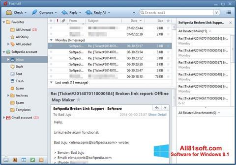 截图 FoxMail Windows 8.1