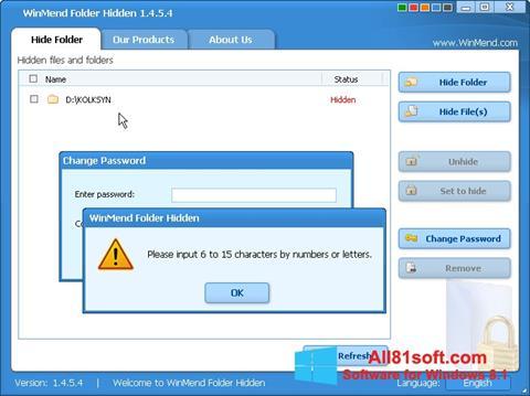 截图 Hide Folders Windows 8.1
