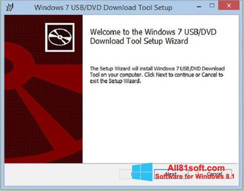 截图 Windows 7 USB DVD Download Tool Windows 8.1