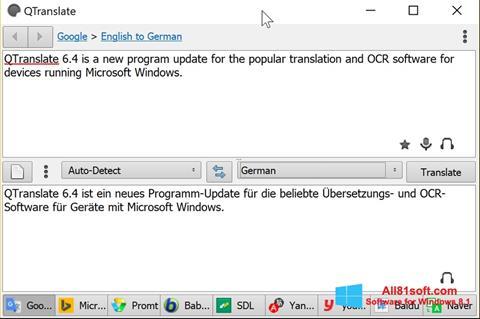 截图 QTranslate Windows 8.1
