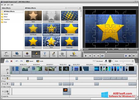 截图 AVS Video Editor Windows 8.1