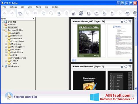 截图 PDF24 Creator Windows 8.1