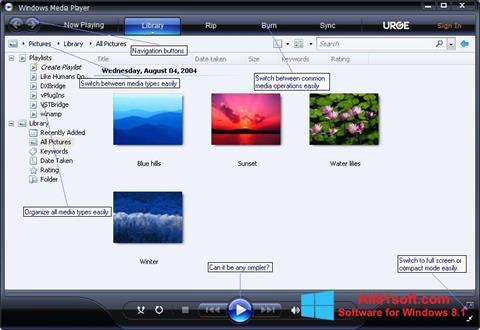截图 Media Player Windows 8.1