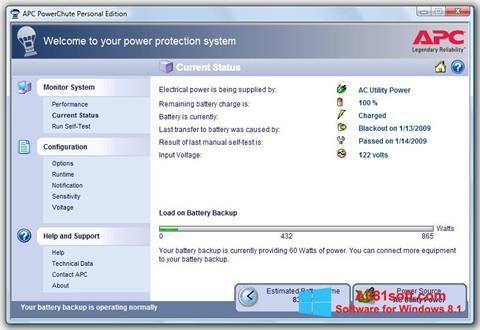 截图 PowerChute Personal Edition Windows 8.1