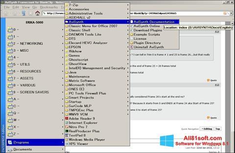 截图 AviSynth Windows 8.1