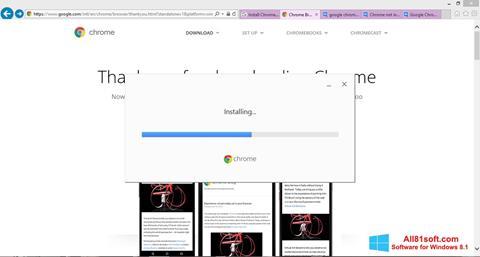 截图 Google Chrome Offline Installer Windows 8.1