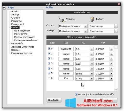 截图 RMClock Windows 8.1
