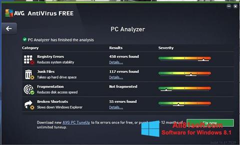 截图 AVG AntiVirus Free Windows 8.1