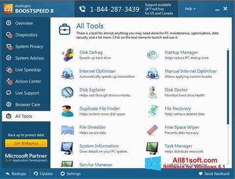 截图 Auslogics BoostSpeed Windows 8.1