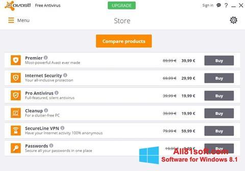 截图 Avast Free Antivirus Windows 8.1