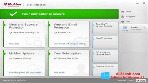截图 McAfee Total Protection Windows 8.1