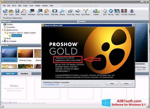 截图 ProShow Gold Windows 8.1