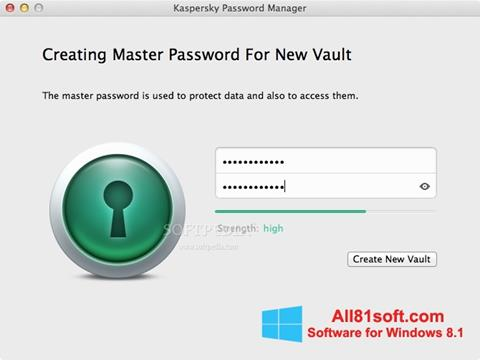 截图 Kaspersky Password Manager Windows 8.1