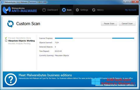 截图 Malwarebytes Anti-Malware Windows 8.1