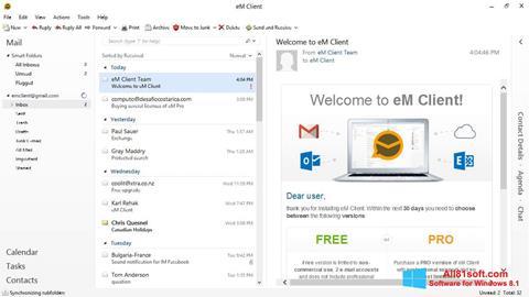 截图 eM Client Windows 8.1