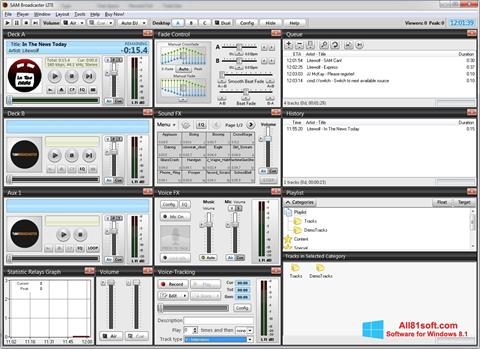 截图 SAM Broadcaster Windows 8.1