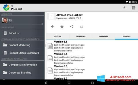 截图 Alfresco Windows 8.1