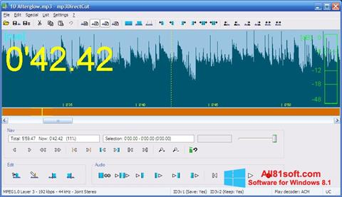 截图 mp3DirectCut Windows 8.1