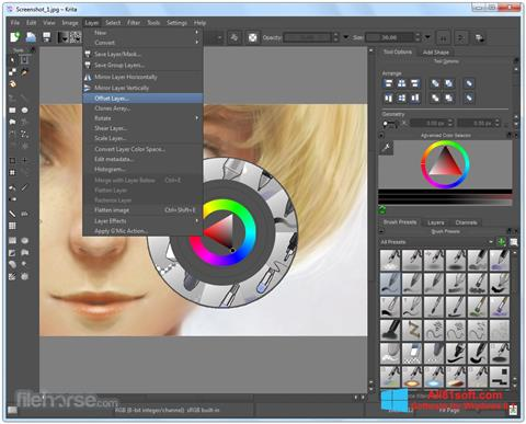 截图 Krita Windows 8.1