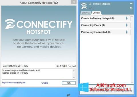 截图 Connectify Hotspot Windows 8.1