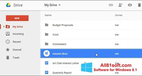 截图 Google Drive Windows 8.1
