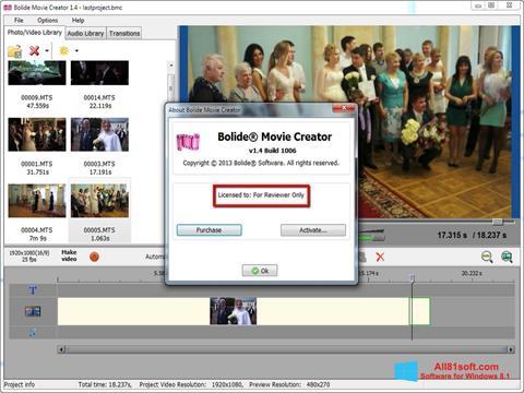 截图 Bolide Movie Creator Windows 8.1