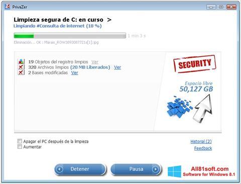 截图 PrivaZer Windows 8.1