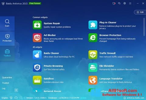 截图 Baidu Antivirus Windows 8.1