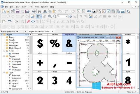 截图 Font Creator Windows 8.1