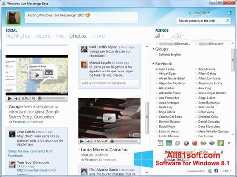 截图 Windows Live Messenger Windows 8.1