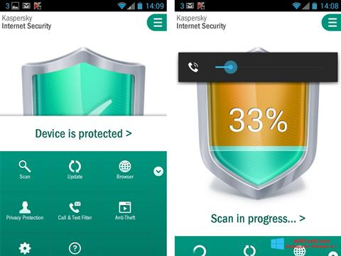 截图 Kaspersky Mobile Security Windows 8.1