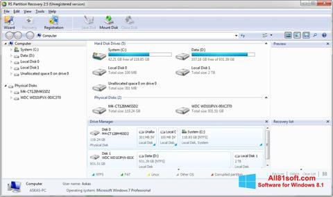 截图 RS Partition Recovery Windows 8.1