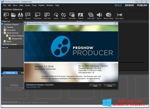 截图 ProShow Producer Windows 8.1