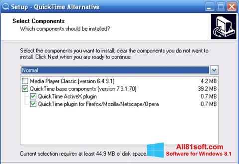 截图 QuickTime Alternative Windows 8.1