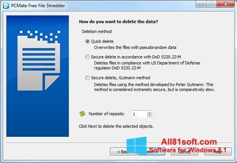 截图 File Shredder Windows 8.1