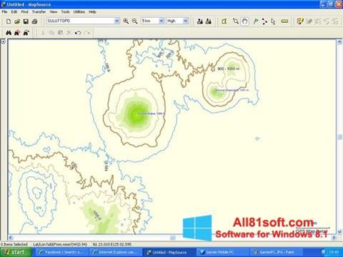 截图 MapSource Windows 8.1