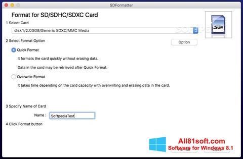 截图 SDFormatter Windows 8.1