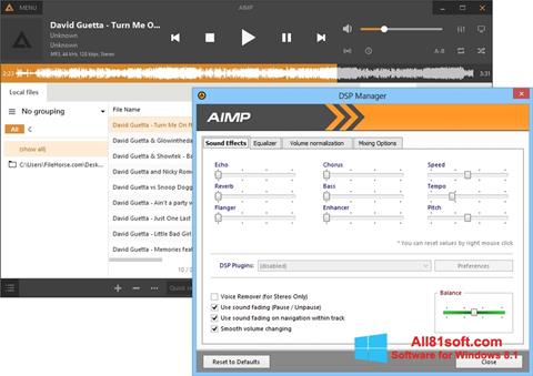 截图 AIMP Windows 8.1