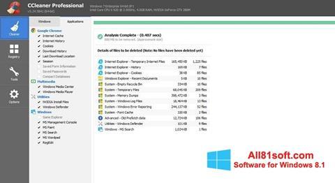 截图 CCleaner Professional Plus Windows 8.1