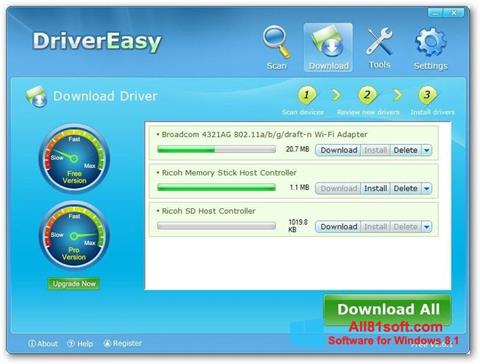 截图 Driver Easy Windows 8.1