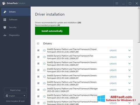截图 DriverPack Solution Online Windows 8.1
