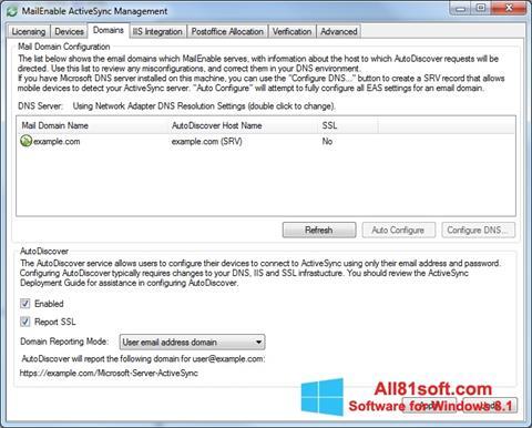 截图 Microsoft ActiveSync Windows 8.1