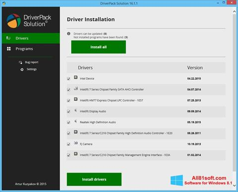 截图 DriverPack Solution Windows 8.1