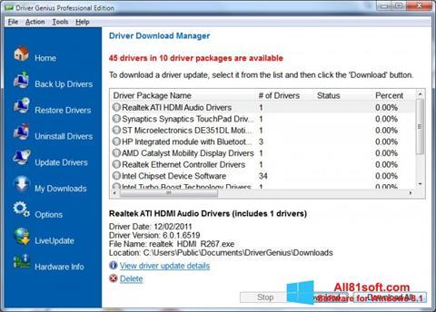 截图 Driver Genius Professional Windows 8.1