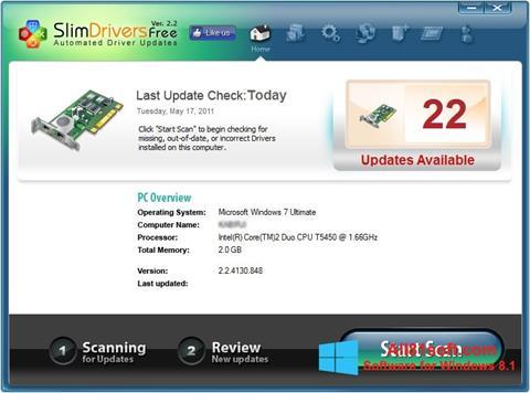 截图 SlimDrivers Windows 8.1