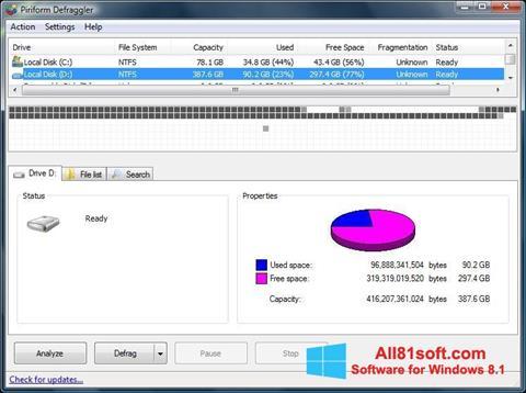 截图 Defraggler Windows 8.1
