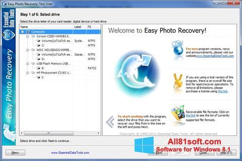 截图 Easy Photo Recovery Windows 8.1