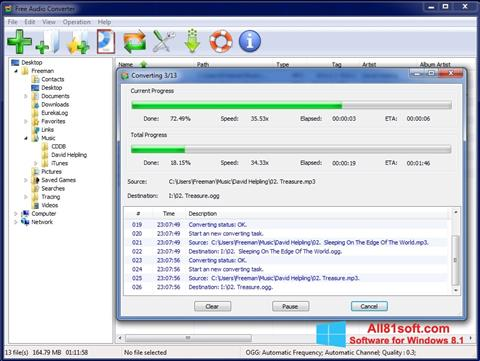 截图 Free Audio Converter Windows 8.1